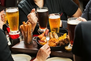 craft beer and food